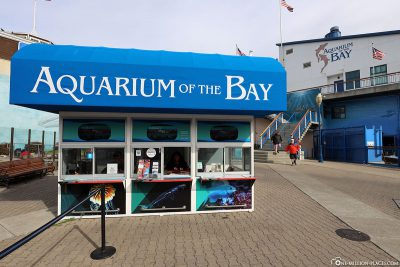 Eingang zum Aquarium of the Bay