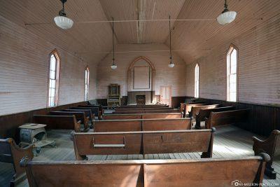 Ein Blick in die Kirche