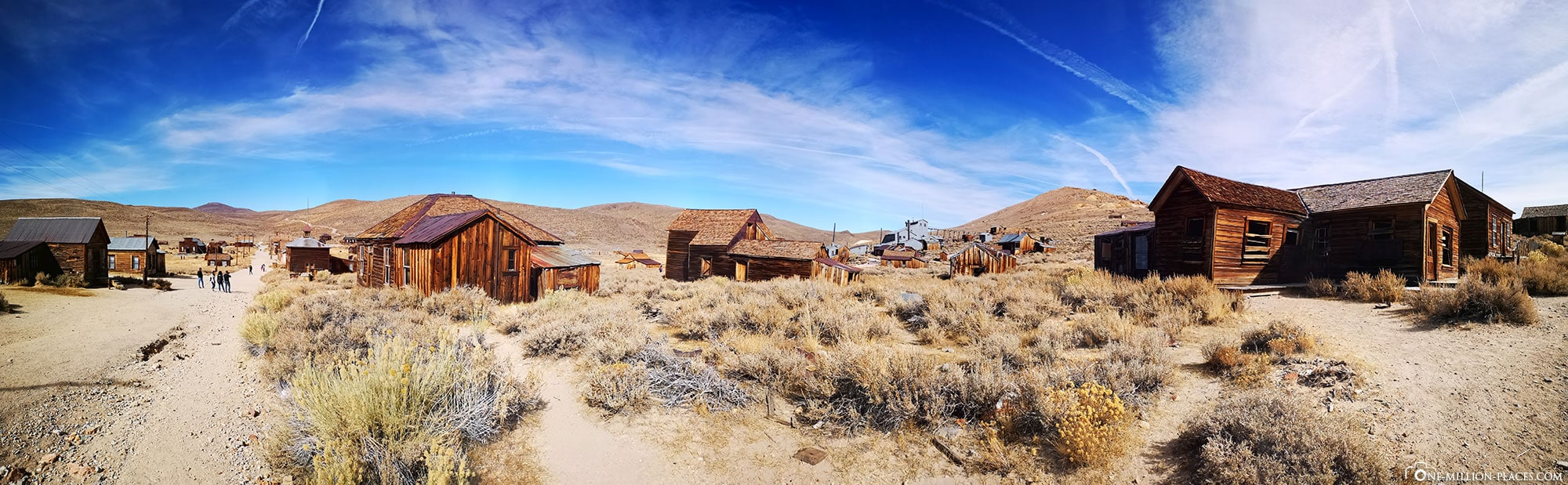 Panorama, Bodie, Ghost Town, Panorama, Ghost Town, California, USA
