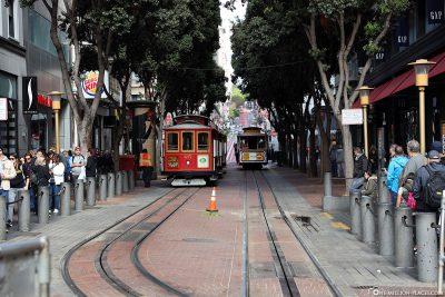 Die Cable Car auf der Powell Street