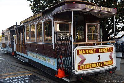 Eine Cable Car in San Francisco