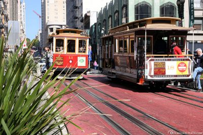 Cable Car in der Powell Street