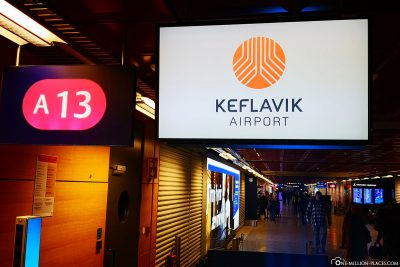 Am Flughafen Keflavík