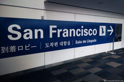 Ankunft in San Francisco