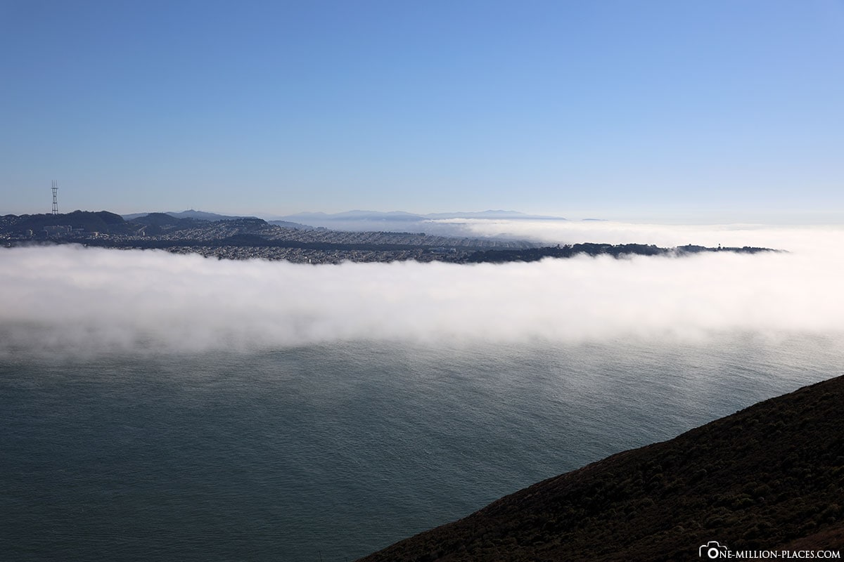 Bay, Lands End, Nebel, San Francisco