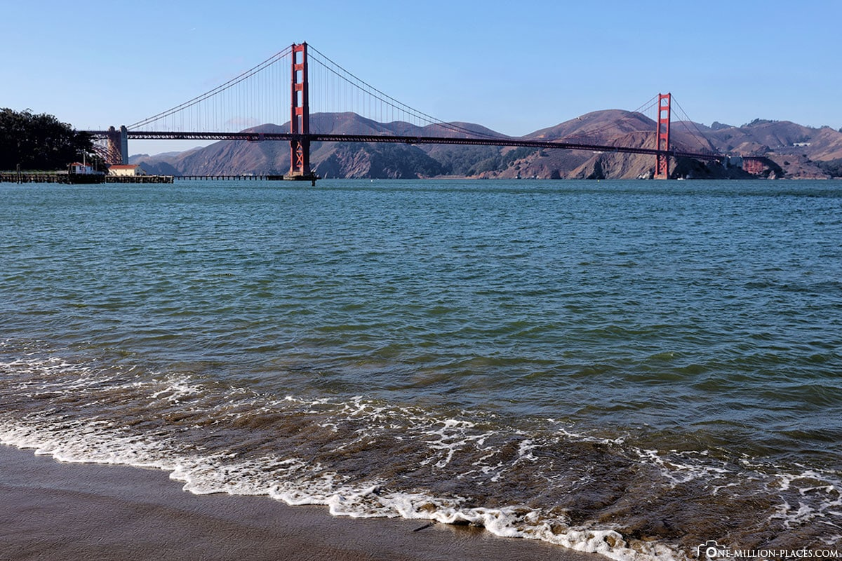Crissy Field, San Francisco, Golden Gate Bridge, Aussicht, Kalifornien, USA; Reisebericht