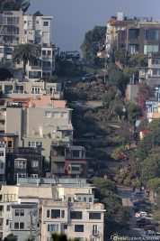 View of Lombard Street from Coit Tower