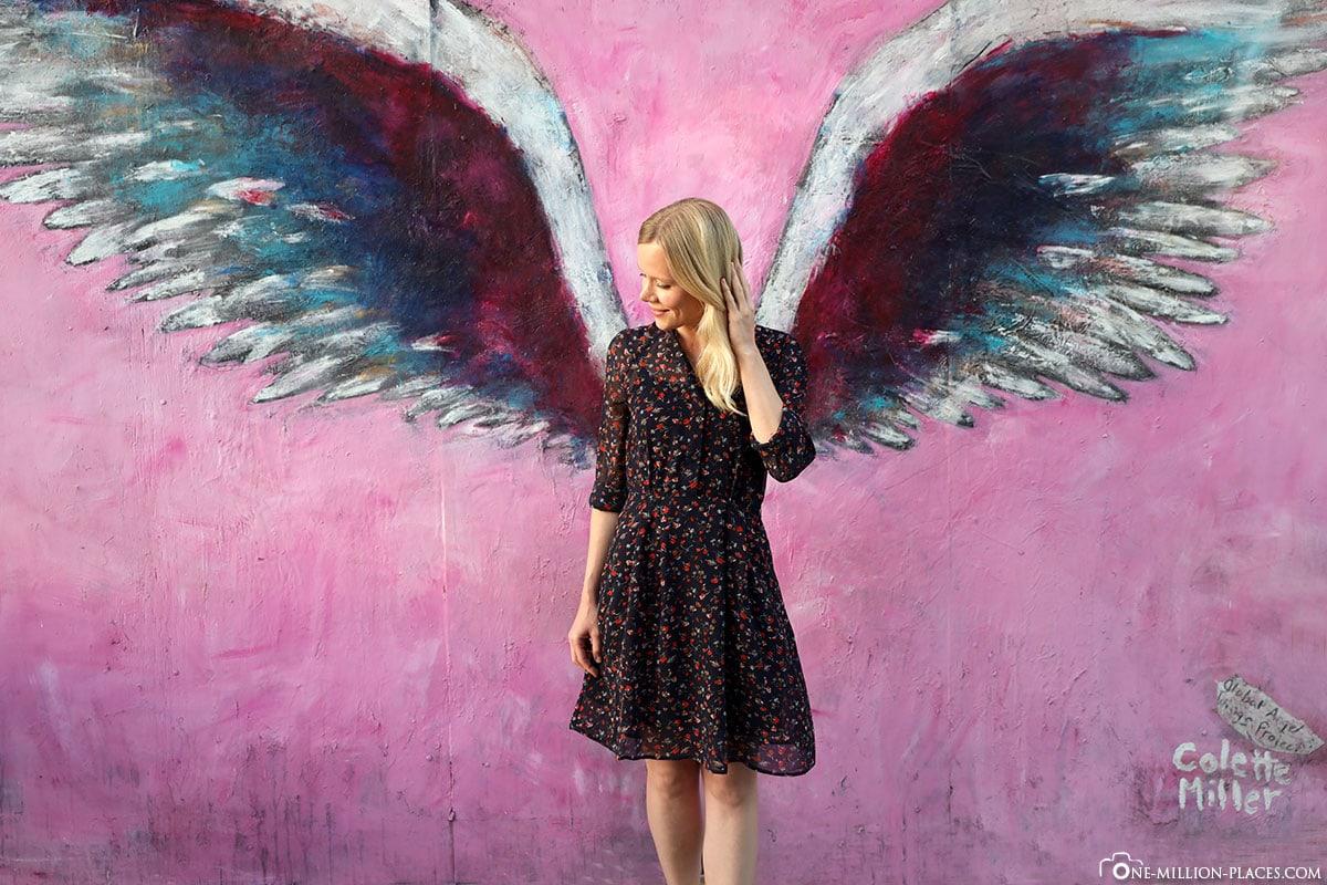 Angel Image, Wing Image, Instagram Spot, Los Angeles, Colette Miller, Angel Wings Wall, Melrose Avenue, California, USA