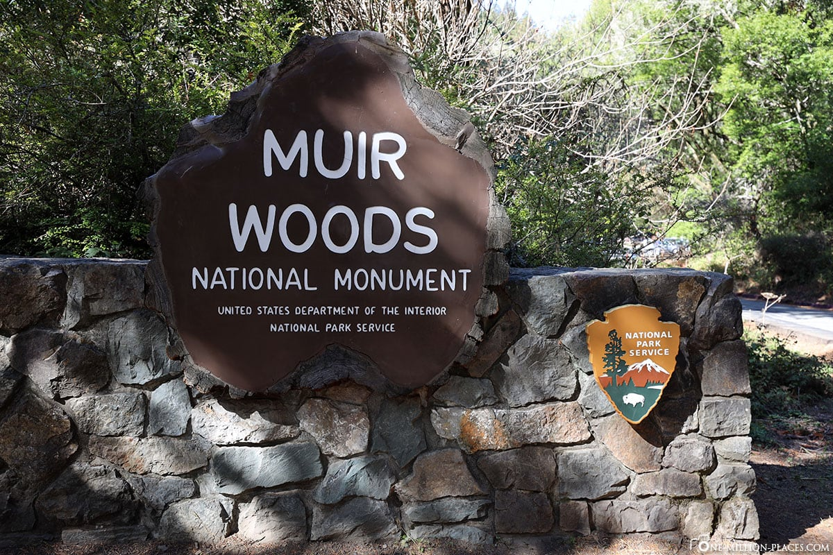 Muir Woods National Monument, USA, Eingang, Schild
