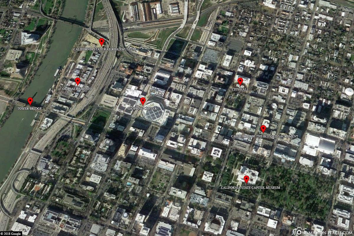 Sacramento, Map, Attractions