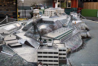 A model of Alcatraz Island
