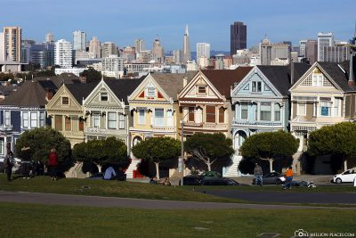 Die Painted Ladies & der Alamo Square Park