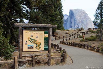 Der Eingang am Glacier Point