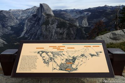 Infotafel über das Yosemite Valley