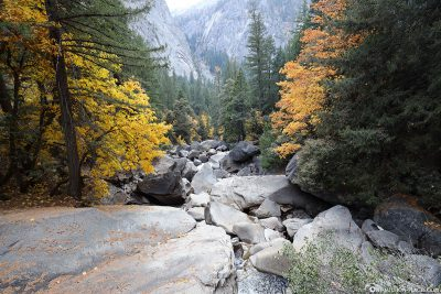 Der Bachlauf des Merced Rivers