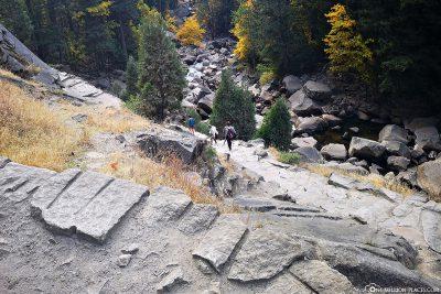 Der Wanderweg zu den Wasserfällen