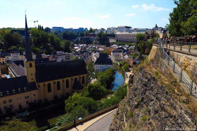 Die Corniche in Luxemburg