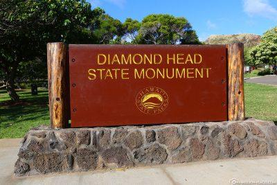 Der Diamond Head Crater auf Hawaii