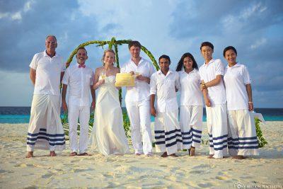 Heiraten am Strand der Malediven