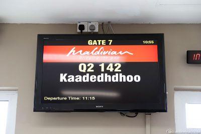 Weiterflug nach Kaadedhdhoo