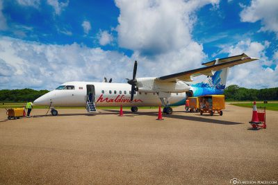Our flight with Maldivian Airlines
