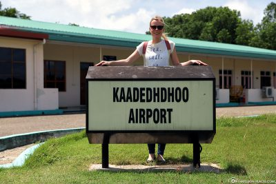 Arrival at Kaadedhdhoo Airport