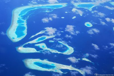 The southern atolls of the Maldives