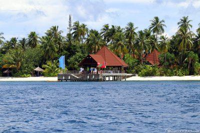 Die Bootsanlegestelle des Robinson Club