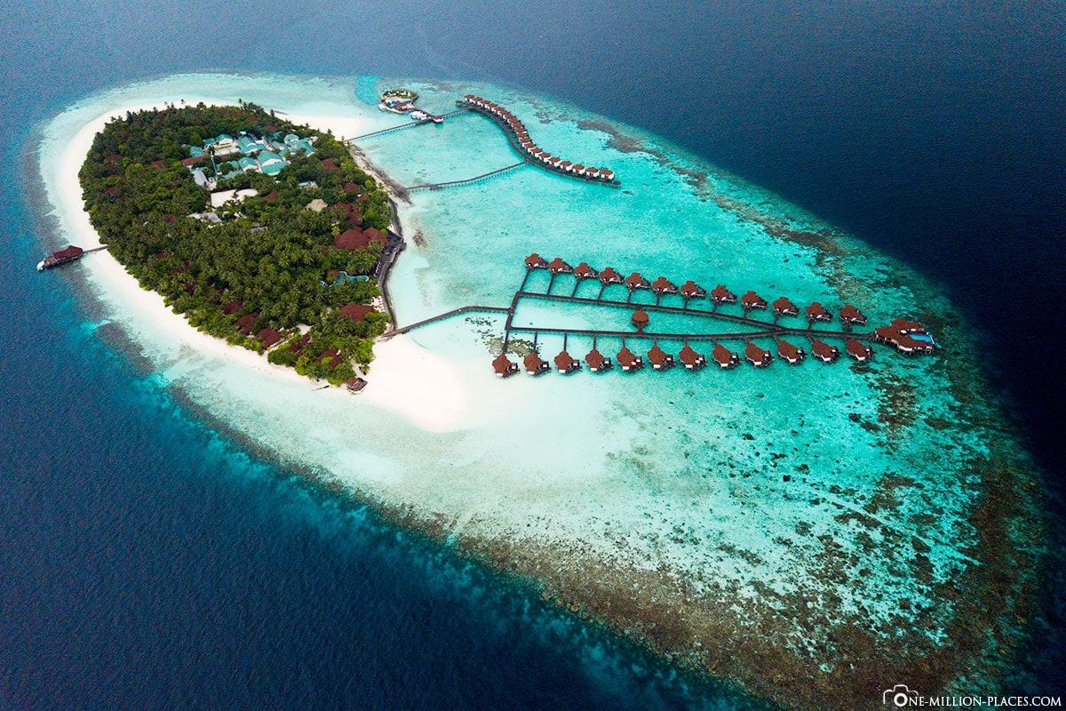 Luftaufnahme, Robinson Club Malediven, Mavic Pro, Drohnenbild, Atoll, Riff