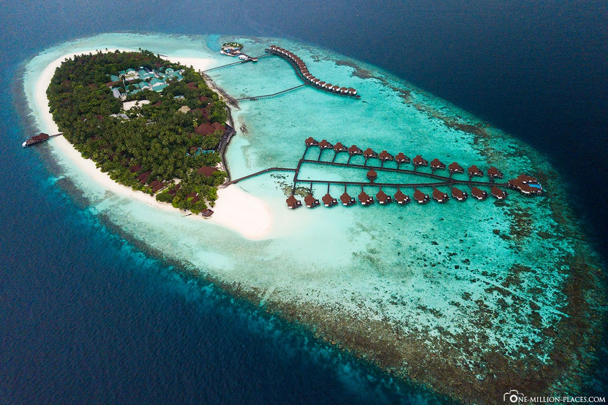 ROBINSON Club Maldives, Maldives, Maldives from above, aerial view, DJI Mavic Pro, drone image, Gaaf Alif Atoll, travelogue