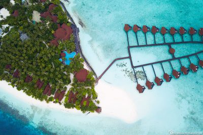 Pool, Sundowner Bar and Water Bungalows