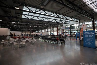 The terminal of cruise center Steinwerder