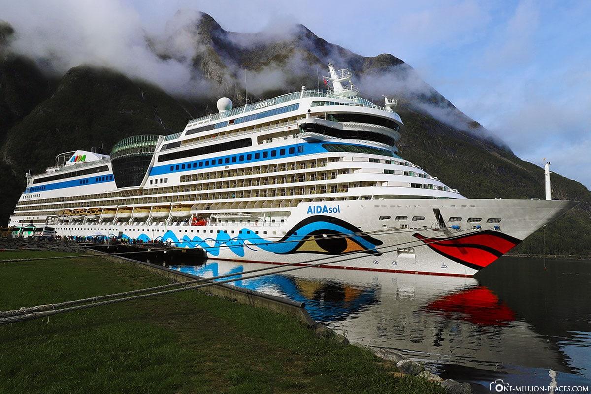 AIDAsol, Kreuzfahrtschiff, Norwegen, Reisebericht