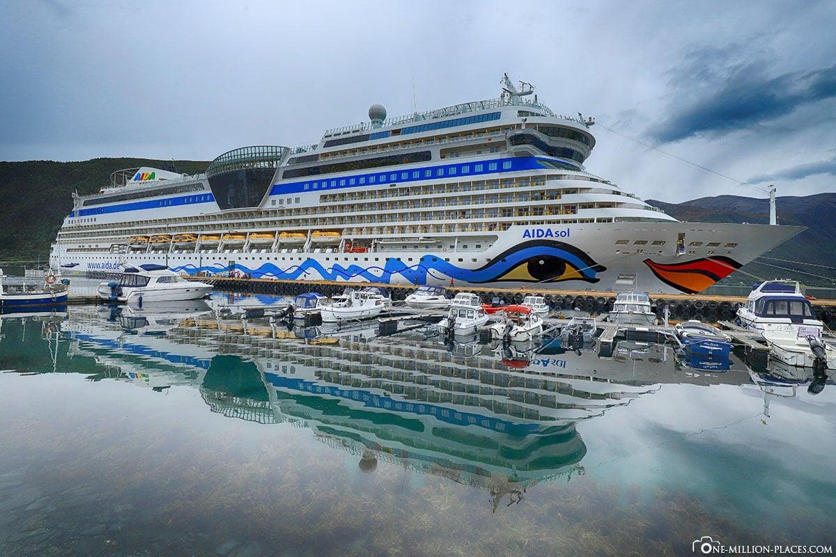 AIDAsol, ndalsnes, Norway, berth, port