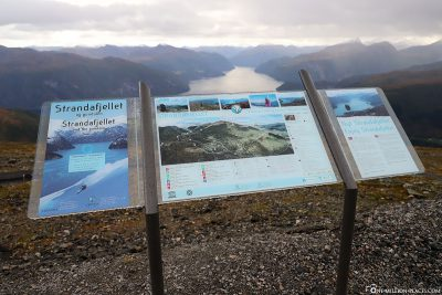The viewpoint on the Strandafjellet