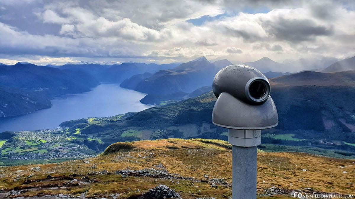 Stranda, Strandafjellet, Aussicht, Fjord, Berge, Herbst, Norwegen