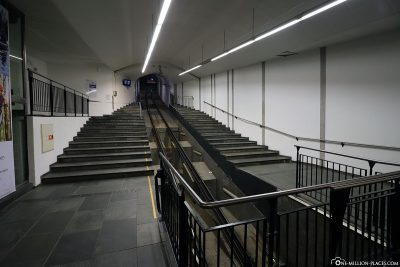 The funicular to the Fléyen in Bergen
