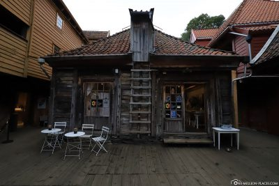 A small wooden house in Bryggen