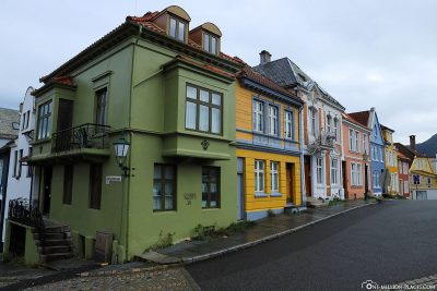 Colourful houses at Klosteret