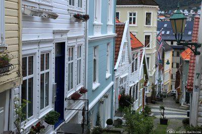Beautiful alleys in Bergen