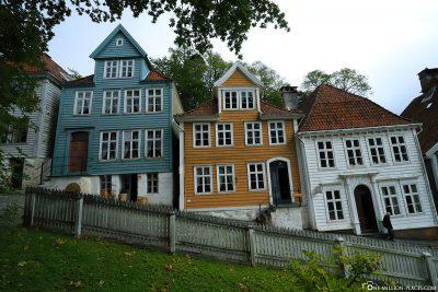Row of houses in Gamle Bergen