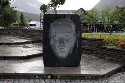 Skulptur in Eidfjord