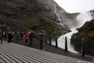 Observation platform at Kjosfossen waterfall