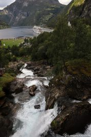 Waterfalls in Geiranger