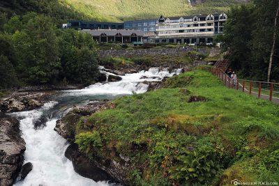 The storfossen waterfall in Geiranger