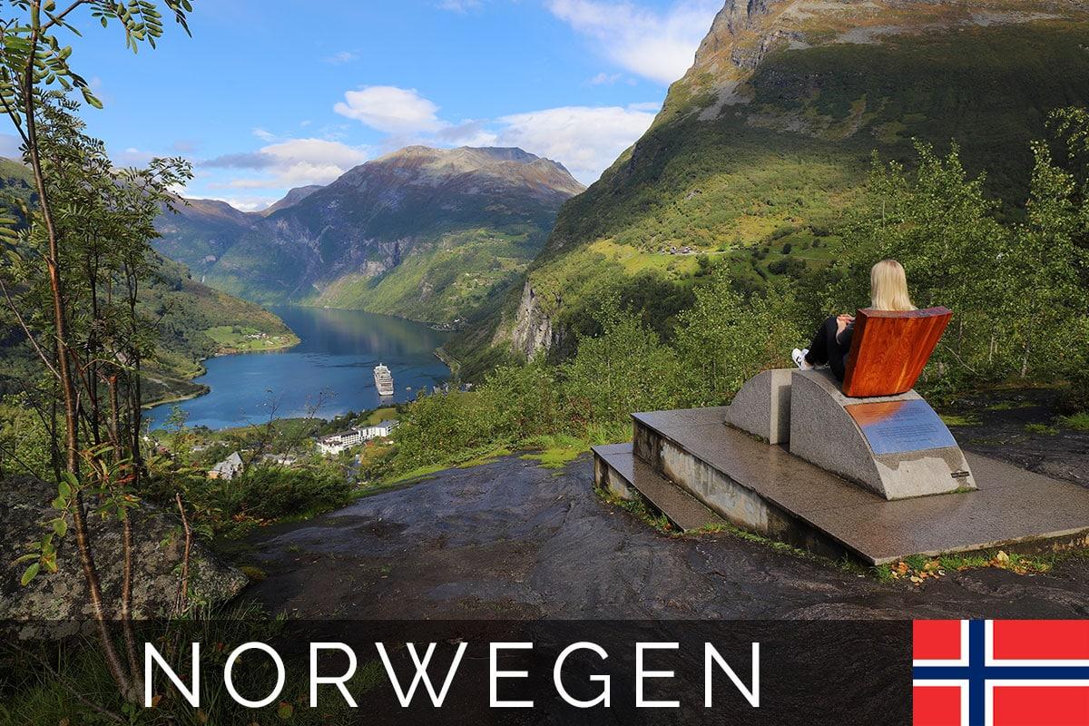 Flydalsjuvet, Ausblick, Geiranger, Geirangerfjord, Norwegen