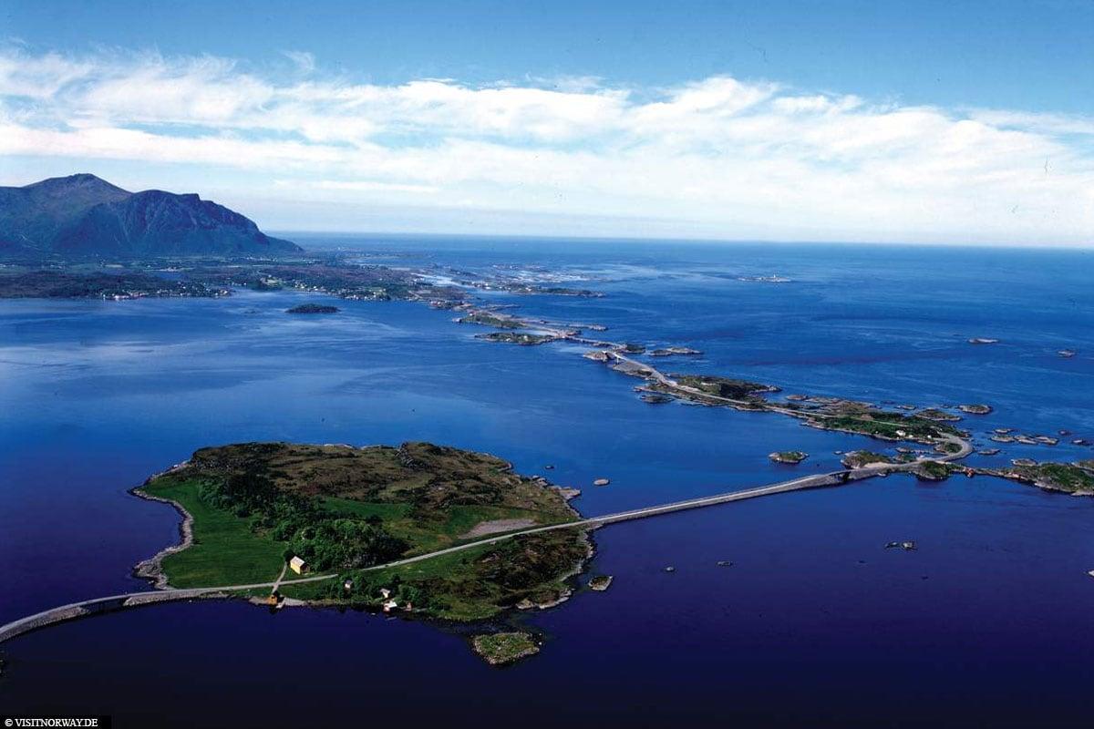 Atlantik-Küstenstraße, Norwegen, Brücken, Inseln