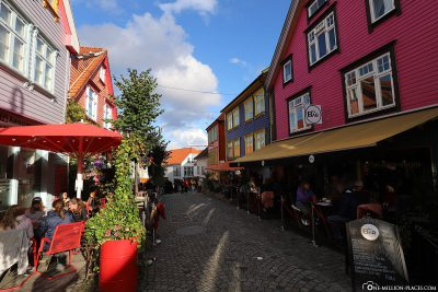 The colourful houses in Stavanger