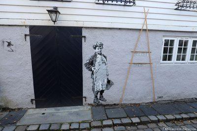 Ein Wandgemälde