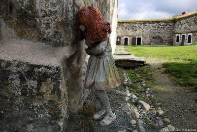 Sculptures in the fortress Kristiansten
